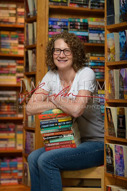 Rebecca Dowling, the owner of the Hockessin Book Shelf in Hockessin, De., on 15 September 2017.Photograph by Jim Graham