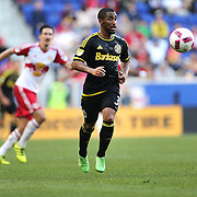 HARRISON, NEW JERSEY- OCTOBER 16:  Corey Ashe #3 of Columbus Crew in action during the New York Red Bulls Vs Columbus Crew SC MLS regular season match at Red Bull Arena, on October 16, 2016 in Harrison, New Jersey. (Photo by Tim Clayton/Corbis via Getty Images)