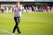 Barnet FC Manager Martin Allen applauds fans after the Sky Bet League 2 match between Crawley Town and Barnet at the Checkatrade.com Stadium, Crawley, England on 7 May 2016. Photo by Andy Walter.