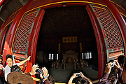 Gugong (Forbidden City, Imperial Palace). Baohe Dian (Hall of Preserving Harmony). The Emperor's throne.