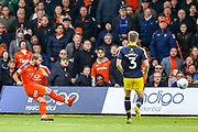 Goal Luton Town forward Elliot Lee (10) scores a goal 2-0 during the EFL Sky Bet League 1 match between Luton Town and Oxford United at Kenilworth Road, Luton, England on 4 May 2019.