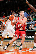 February 27, 2010: Dennis Horner of the North Carolina State Wolfpack in action during the NCAA basketball game between the Miami Hurricanes and the North Carolina State Wolfpack. The Wolfpack defeated the 'Canes 71-66.
