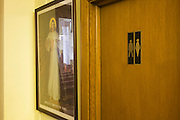 Male and female-sharing toilets at St. Lawrence's Catholic church in Feltham, London.