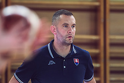 Coach Juraj Suja of Slovakia  during Women's Basketball - Slovenia vs Slovaska on the 14th of June 2019, Dvorana Poden, Skofja Loka, Slovenia. Photo by Matic Ritonja / Sportida