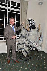 JON CULSHAW at a dinner in aid of the charity Save The Rhino held at ZSL London Zoo, Regents Park, London on 16th October 2012.