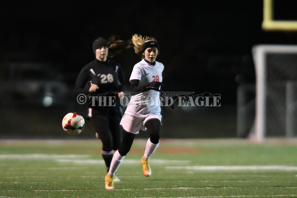 Lafayette High vs. Cleveland High in girls high school soccer action at William L. Buford Stadium in Oxford, Miss. on Thursday, January 5, 2017.