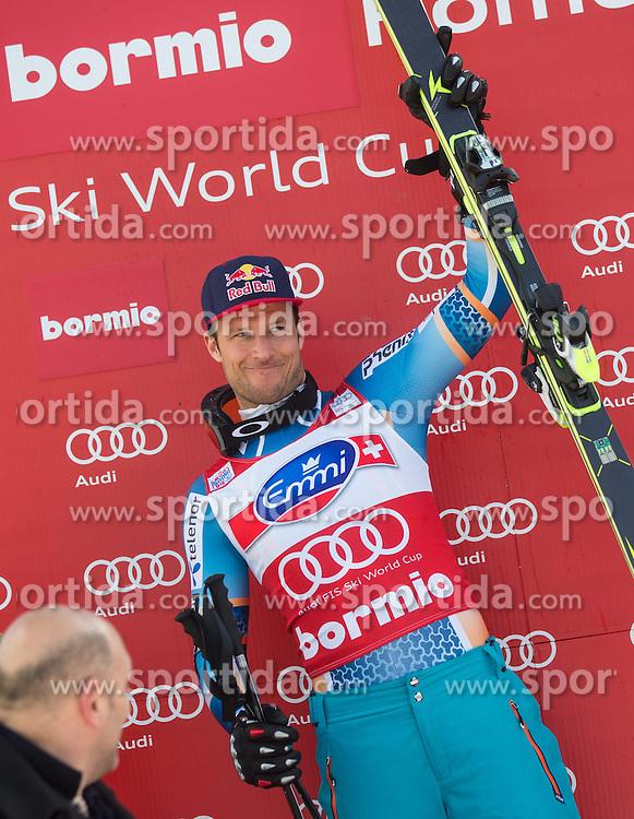 29.12.2013, Stelvio, Bormio, ITA, FIS Ski Weltcup, Bormio, Abfahrt, Herren, Siegerpraesentation, im Bild Aksel Lund Svindal (NOR, 1. Platz) // 1st place Aksel Lund Svindal of Norway Celebrate on Podium after mens downhill of the Bormio FIS Ski Alpine World Cup at the Stelvio Course in Bormio, Italy on 2013/12/29. EXPA Pictures © 2013, PhotoCredit: EXPA/ Johann Groder