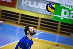 JAvornik Gregor serving during volleyball match between Panvita Pomgrad and Šoštanj Topolšica of 1. DOL Slovenian National Championship 2019/20, on December 14, 2019 in Osnovna šola I, Murska Sobota, Slovenia. Photo by Blaž Weindorfer / Sportida