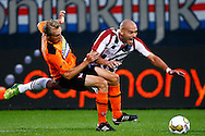 Onderwerp/Subject: Willem II - FC Volendam - Jupiler League<br /> Reklame:  <br /> Club/Team/Country: <br /> Seizoen/Season: 2013/2014<br /> FOTO/PHOTO: Ruud BOYMANS (R) of Willem II in duel with Henny SCHILDER (L) of FC Volendam. (Photo by PICS UNITED)<br /> <br /> Trefwoorden/Keywords: <br /> #04 $94 &plusmn;1372506528100<br /> Photo- &amp; Copyrights &copy; PICS UNITED <br /> P.O. Box 7164 - 5605 BE  EINDHOVEN (THE NETHERLANDS) <br /> Phone +31 (0)40 296 28 00 <br /> Fax +31 (0) 40 248 47 43 <br /> http://www.pics-united.com <br /> e-mail : sales@pics-united.com (If you would like to raise any issues regarding any aspects of products / service of PICS UNITED) or <br /> e-mail : sales@pics-united.com   <br /> <br /> ATTENTIE: <br /> Publicatie ook bij aanbieding door derden is slechts toegestaan na verkregen toestemming van Pics United. <br /> VOLLEDIGE NAAMSVERMELDING IS VERPLICHT! (&copy; PICS UNITED/Naam Fotograaf, zie veld 4 van de bestandsinfo 'credits') <br /> ATTENTION:  <br /> &copy; Pics United. Reproduction/publication of this photo by any parties is only permitted after authorisation is sought and obtained from  PICS UNITED- THE NETHERLANDS