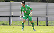 Julian Speroni watches the action unfold during the U21 Professional Development League match between Crystal Palace U21s and Huddersfield U21s at Imperial Fields, Tooting, United Kingdom on 7 September 2015. Photo by Michael Hulf.