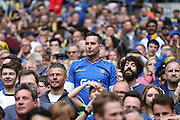 AFC Wimbledon fans during the Sky Bet League 2 play off final match between AFC Wimbledon and Plymouth Argyle at Wembley Stadium, London, England on 30 May 2016.
