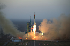 China:  The Long March-2F carrier rocket blasts off, 17 Oct. 2016