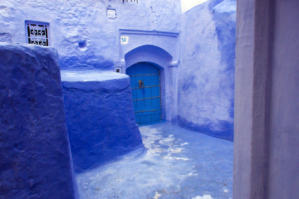 Chefchaouen is a city in northwest Morocco.  It is know for its building being painted blue.