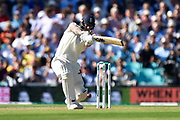 Ben Stokes of England hits the ball to the boundary for four runs during the 5th International Test Match 2019 match between England and Australia at the Oval, London, United Kingdom on 12 September 2019.