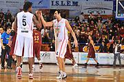 DESCRIZIONE : Venezia Lega A2 2009-10 Umana Reyer Venezia Riviera Solare Rimini<br /> GIOCATORE : German Scarone Ndudi Ebi<br /> SQUADRA : Riviera Solare Rimini <br /> EVENTO : Campionato Lega A2 2009-2010<br /> GARA : Umana Reyer Venezia Riviera Solare Rimini<br /> DATA : 09/12/2009<br /> CATEGORIA : Esultanza<br /> SPORT : Pallacanestro <br /> AUTORE : Agenzia Ciamillo-Castoria/M.Gregolin<br /> Galleria : Lega Basket A2 2009-2010 <br /> Fotonotizia : Venezia Campionato Italiano Lega A2 2009-2010 Umana Reyer Venezia Riviera Solare Rimini<br /> Predefinita :