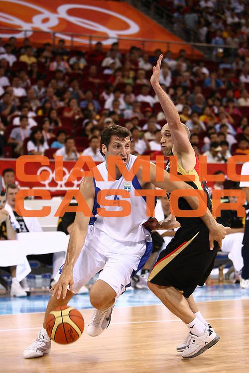 DESCRIZIONE : Beijing Pechino Olympic Games Olimpiadi 2008 Greece Germany <br /> GIOCATORE : Theodoros Papaloukas <br /> SQUADRA : Greece Grecia <br /> EVENTO : Olympic Games Olimpiadi 2008 <br /> GARA : Grecia Germania Greece Germany <br /> DATA : 12/08/2008 <br /> CATEGORIA : Penetrazione <br /> SPORT : Pallacanestro <br /> AUTORE : Agenzia Ciamillo-Castoria/E.Castoria <br /> Galleria : Beijing Pechino Olympic Games Olimpiadi 2008 <br /> Fotonotizia : Beijing Pechino Olympic Games Olimpiadi 2008 Greece Germany <br /> Predefinita :