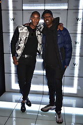 Stefan-Pierre Tomlin and Jamal Edwards at the official launch of The Perception at W London, 10 Wardour Street, London England. 7 November 2017.<br /> Photo by Dominic O'Neill/SilverHub 0203 174 1069 sales@silverhubmedia.com