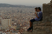 Barcelona 09/04/16 25th Aniinversary trip. Barcelona visits to Barcelona Beach, Pueblo Nuo, Rovira scenic overlook, Mount Juic, Forum and Bar Moritz with Rosa and Ricard. (Essdras M Suarez/ EMS Photography©)