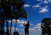 Jimmy Walker watches his tee shot on the sixth hole during the second round of The Barclays Championship held at Plainfield Country Club in Edison on August 28.