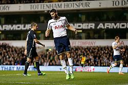 Federico Fazio of Tottenham Hotspur looks frustrated after he misses with a shot - Photo mandatory by-line: Rogan Thomson/JMP - 07966 386802 - 30/11/2014 - SPORT - FOOTBALL - London, England - White Hart Lane - Tottenham Hotspur v Everton - Barclays Premier League.