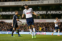 Federico Fazio of Tottenham Hotspur looks frustrated after he misses with a shot - Photo mandatory by-line: Rogan Thomson/JMP - 07966 386802 - 30/11/2014 - SPORT - FOOTBALL - London, England - White Hart Lane - Tottenham Hotspur v Everton - Barclays Premier League.