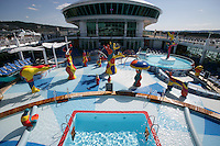 Royal Caribbean International's  Independence of the Seas, the world's largest cruise ship.....Pool area..