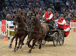 17.01.2016, Neue Messe, Leipzig, GER, FEI World Cup Driving, im Bild Fahrer Georg von Stein (GER) // during the FEI World Cup Driving at the Neue Messe in Leipzig, Germany on 2016/01/17. EXPA Pictures © 2016, PhotoCredit: EXPA/ Eibner-Pressefoto/ Modla<br /> <br /> *****ATTENTION - OUT of GER*****