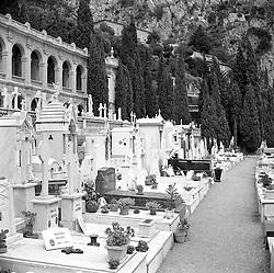 The Cemetery, Monte Carlo, Monaco in February 1956.