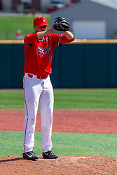 NORMAL, IL - April 08: Colton Johnson during a college baseball game between the ISU Redbirds  and the Missouri State Bears on April 08 2019 at Duffy Bass Field in Normal, IL. (Photo by Alan Look)