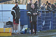 Glossop North End Manager,  Chris Willcock  during the Evo-Stik Premier League match between Glossop North End and Scarborough Athletic at the Arthur Goldthorpe Stadium, Glossop, United Kingdom on 26 November 2016. Photo by Mark Pollitt.