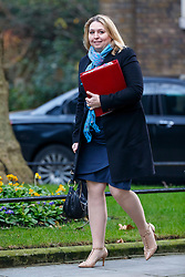 © Licensed to London News Pictures. 17/01/2017. London, UK. Secretary of State for Culture, Media and Sport KAREN BRADLEY attends a cabinet meeting in Downing Street on Tuesday, 17 January 2017 before Prime Minister Theresa May's Brexit plan speech. Photo credit: Tolga Akmen/LNP