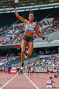 Lorraine Ugen, Great Britain, Women's Long Jump, during the Muller Anniversary Games 2019 at the London Stadium, London, England on 21 July 2019.
