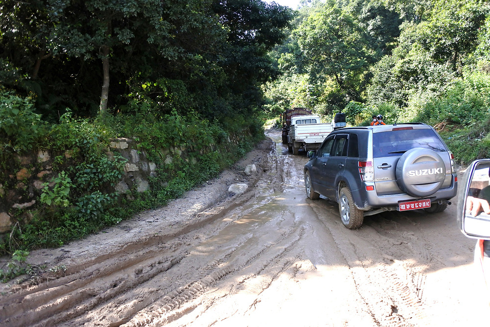 Typical dirt road in Kathmandu, Nepal