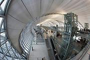 Bangkok's brand new Suvarnabhumi airport. Departure gates.