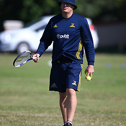 Glenn Delaney (Defence Coach) of the Pulse Energy Highlanders during the Pulse Energy Highlanders training session at Crawford College, La Lucia ,Durban.South Africa. 01,05,2018 Photo by Steve Haag)