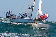 2016 Olympic Sailing Games-Rio-Brazil, ANP Copyright Thom Touw, n-GBR- Ben Saxton/Nicola Groves- Nacra 17, Olympische Spelen Zeilen