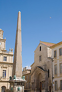 Saint Trophime in the Place de la Republique in Arles, France