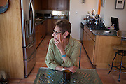 Hilda Raz, writer, poet, author, editor at her home in Placitas New Mexico
