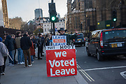 Leavers outside Parliament, London. 11 March 2019
