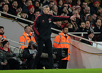 Football - 2018 / 2019 FA Cup - Fourth Round: Arsenal vs. Manchester United <br /> <br /> Ole Gunnar Solskjaer, manager of Manchester United, gives direction to his team at The Emirates Stadium.<br /> <br /> COLORSPORT/DANIEL BEARHAM