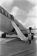 29/03/1963<br /> 03/29/1963<br /> 29 March 1963<br /> B.E.A. Aircrash at Dublin Airport. The escape chute used by passages when BEA London-Dublin Vanguard G-APEJ crash-landed at Dublin Airport. There were no fatalities in the accident.