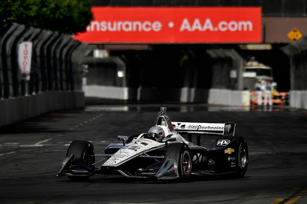 Simon Pagenaud, Team Penske Chevrolet<br /> Sunday 15 April 2018<br /> Toyota Grand Prix of Long Beach<br /> Verizon IndyCar Series<br /> Streets of Long Beach, California USA<br /> World Copyright: Scott R LePage<br /> LAT Images