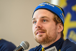 March 15, 2019 - –Stersund, Sweden - 190315 Jesper Nelin of Sweden at a press conference with the Swedish Biathlon team during the IBU World Championships Biathlon on March 15, 2019 in Östersund..Photo: Petter Arvidson / BILDBYRÃ…N / kod PA / 92267 (Credit Image: © Petter Arvidson/Bildbyran via ZUMA Press)