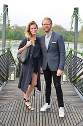 BARBORA BEDIOVA and ALISTAIR GUY at a party to launch the Taylor Morris Explorer Collection held at the Serpentine Lido, Hyde Park, London on 11th May 2016.