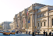 New York City, The Metropolitan Museum of Art, the Met. The main entrance exterior on 82nd Street and Fifth Avenue.