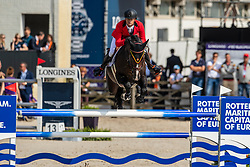 Guery Jerome, BEL, Quel Homme de Hus<br /> Rotterdam - Europameisterschaft Dressur, Springen und Para-Dressur 2019<br /> Longines FEI Jumping European Championship - 1st part - speed competition against the clock<br /> 1. Runde Zeitspringen<br /> 21. August 2019<br /> © www.sportfotos-lafrentz.de/Dirk Caremans