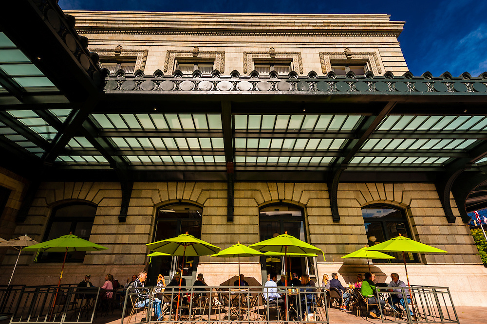 The newly renovated Union Station in Downtown Denver, Colorado USA.