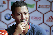 Eden Hazard of Belgium pictured during a press conference - 30 August 2017