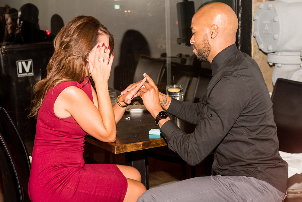 Engagement Proposal of Eddie Johnson II and Stephanie Harpster.