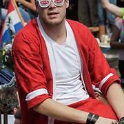 NLD/Amsterdam/20120804 - Canalparade tijdens de Gaypride 2012, BNN boot, Coen Swijnenberg